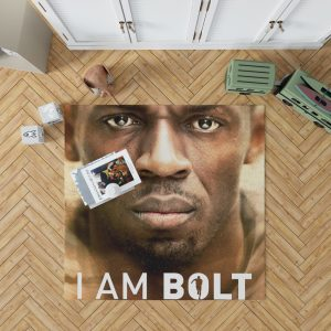 I am Bolt Movie Usain Bolt Bedroom Living Room Floor Carpet Rug 1