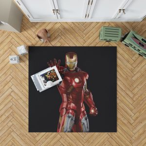 Iron Man Marvel Comics Superheroes Bedroom Living Room Floor Carpet Rug 1