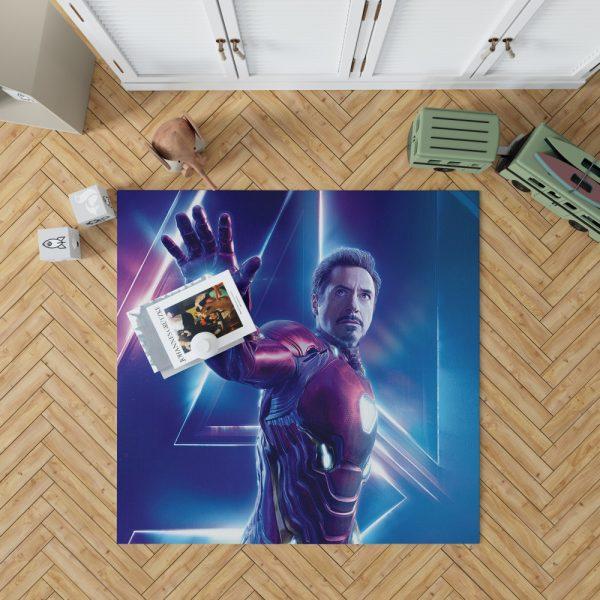Iron Man Robert Downey Jr Tony Stark Bedroom Living Room Floor Carpet Rug 1