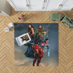 Justice League Movie Teen Bedroom Bedroom Living Room Floor Carpet Rug 1