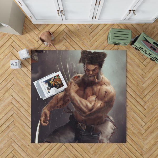 Logan Wolwerine Bedroom Living Room Floor Carpet Rug 1
