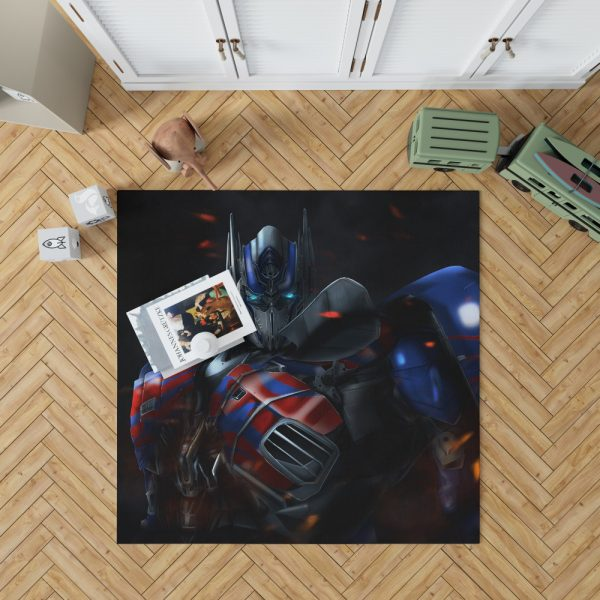 Optimus Prime Artwork Transformers Movie Bedroom Living Room Floor Carpet Rug 1