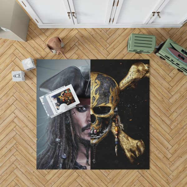 Pirates of the Caribbean Johnny Depp Bedroom Living Room Floor Carpet Rug 1