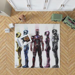 Power Rangers 5 Movie Bath Bedroom Living Room Floor Carpet Rug 1