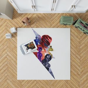 Power Rangers 5 Movie Themed Bedroom Living Room Floor Carpet Rug 1