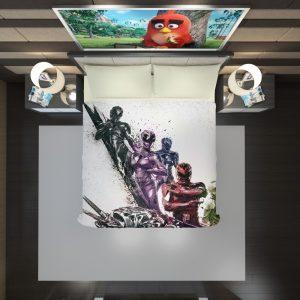 Power Rangers 5 Samurai Movie Themed Duvet Cover 2