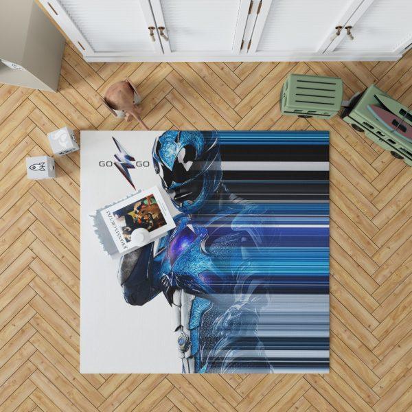 Power Rangers the Blue Ranger Bedroom Living Room Floor Carpet Rug 1