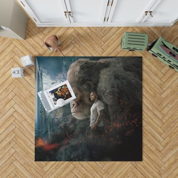 Rampage Dwayne Johnson Movie Bedroom Living Room Floor Carpet Rug 1