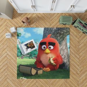 Red Angry Birds Movie Bedroom Living Room Floor Carpet Rug 1