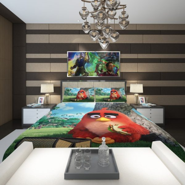Red Angry Birds Movie Comforter 2