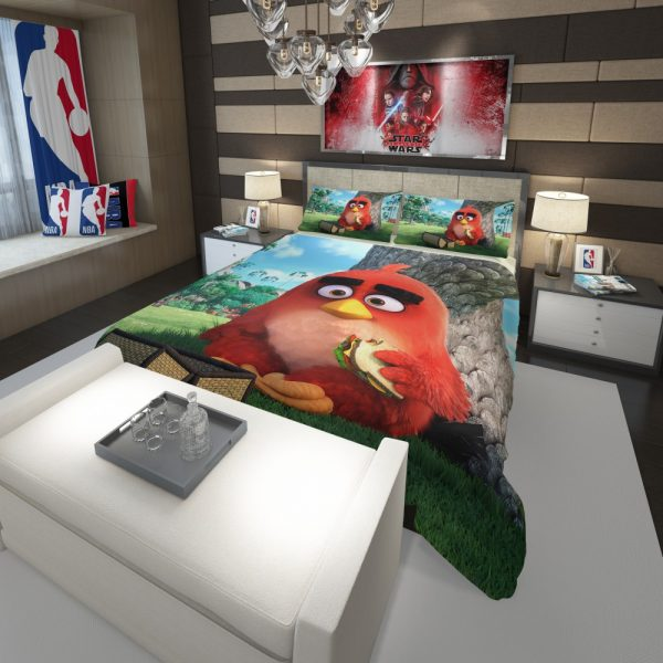 Red Angry Birds Movie Comforter 3