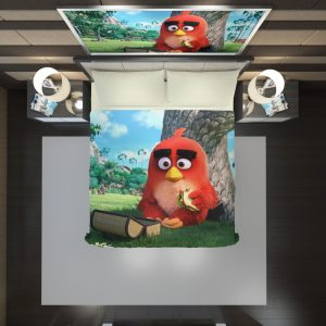 Red Angry Birds Movie Duvet Cover 2
