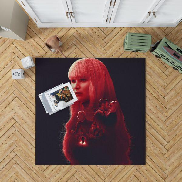 Red Sparrow Movie Bedroom Living Room Floor Carpet Rug 1
