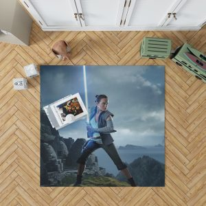 Rey Star Wars The Last Jedi Daisy Ridley Bedroom Living Room Floor Carpet Rug 1