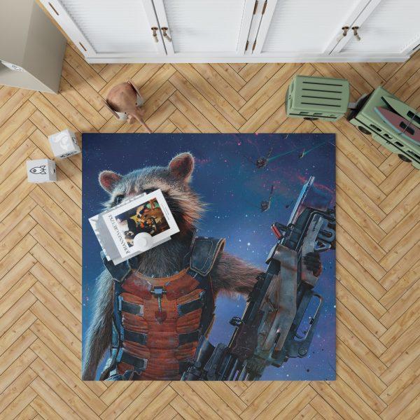 Rocket Raccoon Guardians of the Galaxy Bedroom Living Room Floor Carpet Rug 1