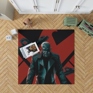 Samuel L Jackson Nick Fury Marvel Comics Bedroom Living Room Floor Carpet Rug 1