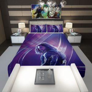 Sebastian Stan Bucky Barnes White Marvel Avenger Comforter 1