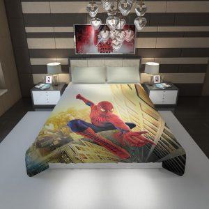 Spider Man Marvel Comics Avengers Duvet Cover 1