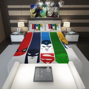 Superheroes Spider Man Batman Superman Hulk Wolverine Comforter 1