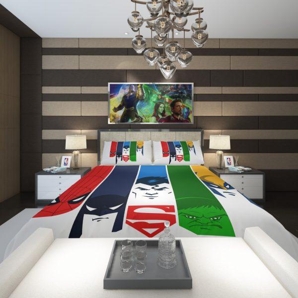 Superheroes Spider Man Batman Superman Hulk Wolverine Comforter 2