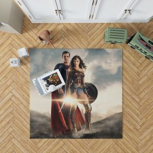 Superman And Wonder Woman Bedroom Living Room Floor Carpet Rug 1