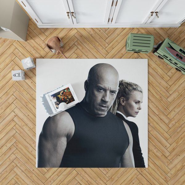 The Fate of the Furious Vin Diesel Charlize Theron Bedroom Living Room Floor Carpet Rug 1