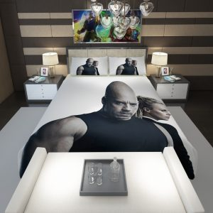 The Fate of the Furious Vin Diesel Charlize Theron Comforter 1