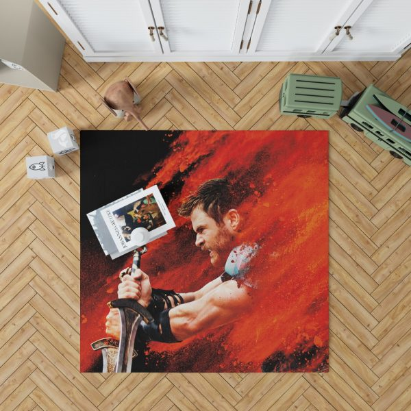 Thor Ragnarok Thor Chris Hemsworth Bedroom Living Room Floor Carpet Rug 1