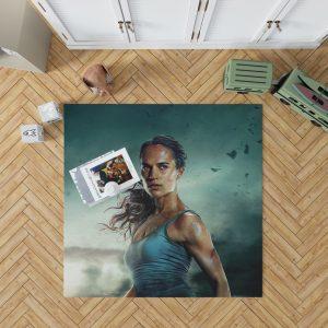 Tomb Raider Alicia Vikander Lara Croft Bath Bedroom Living Room Floor Carpet Rug 1