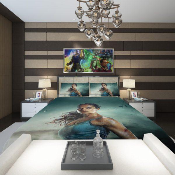 Tomb Raider Alicia Vikander Lara Croft Bath Comforter 2