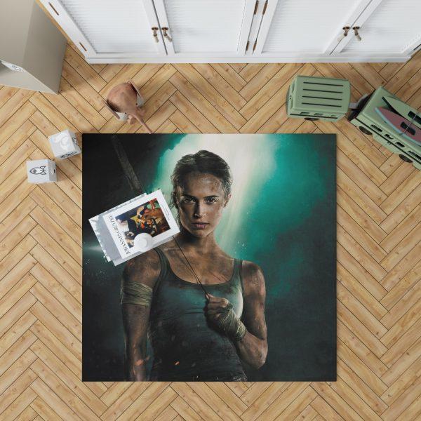 Tomb Raider Alicia Vikander Lara Croft Bedroom Living Room Floor Carpet Rug 1
