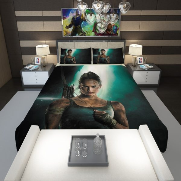 Tomb Raider Alicia Vikander Lara Croft Comforter 1