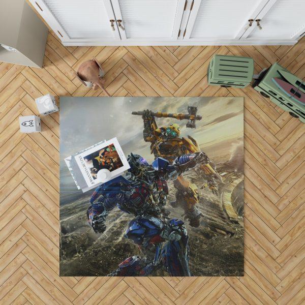 Transformers Bumblebee Optimus Prime Fight Bedroom Living Room Floor Carpet Rug 1