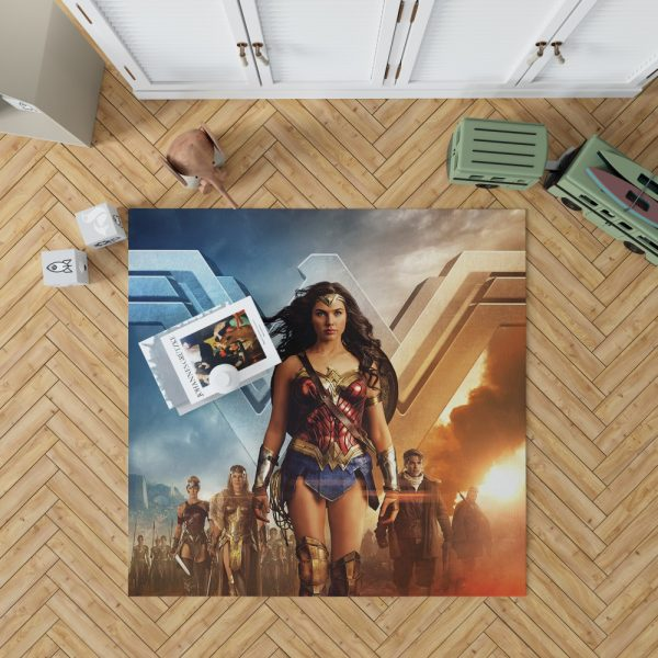 Wonder Woman Gal Gadot Bedroom Living Room Floor Carpet Rug 1