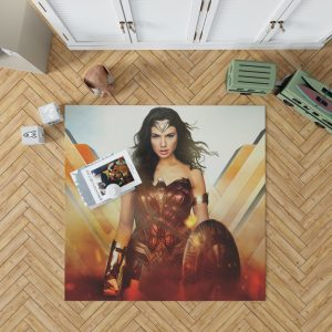 Wonder Woman Rise of the Warrior Movie Bedroom Living Room Floor Carpet Rug 1