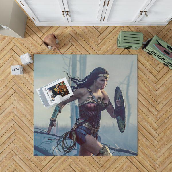 Wonder Women Girls Super Heroine Bedroom Living Room Floor Carpet Rug 1