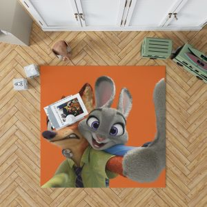Zootopia Movie Nick Wilde Judy Hopps Bedroom Living Room Floor Carpet Rug 1