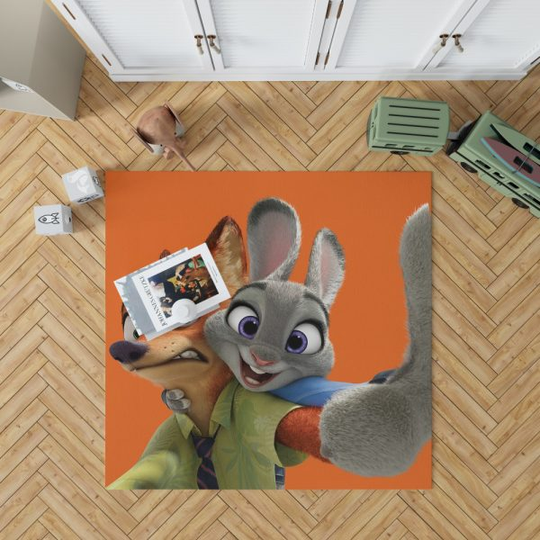 Zootopia Movie Nick Wilde Judy Hopps Bedroom Living Room Floor Carpet Rug 1