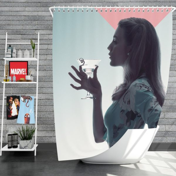 A Simple Favor Movie Martini Blake Lively Shower Curtain