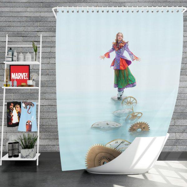Alice Through the Looking Glass 2016 Movie Mia Wasikowska Shower Curtain