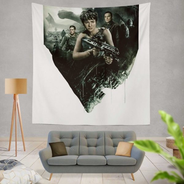 Alien Covenant Movie Katherine Waterston Michael Fassbender Xenomorph Wall Hanging Tapestry