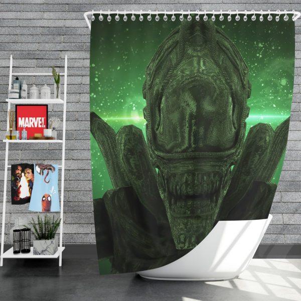 Alien Covenant Movie Xenomorph Shower Curtain