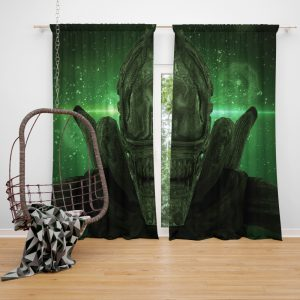 Alien Covenant Movie Xenomorph Window Curtain
