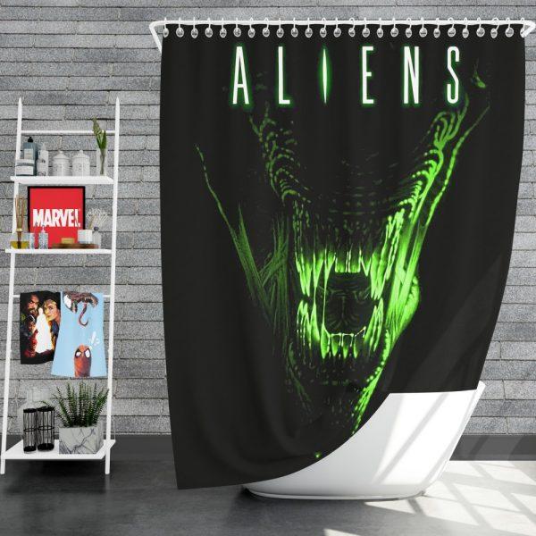 Aliens Movie Shower Curtain