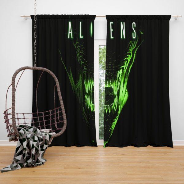 Aliens Movie Window Curtain