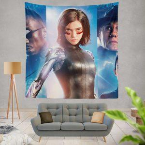 Alita Battle Angel Movie Christoph Waltz Jennifer Connelly Mahershala Ali Wall Hanging Tapestry