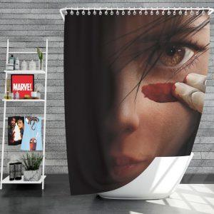 Alita Battle Angel Movie Fighting Super Girl Shower Curtain