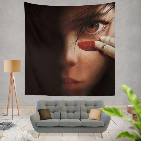Alita Battle Angel Movie Fighting Super Girl Wall Hanging Tapestry