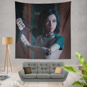 Alita Battle Angel Movie Women Warrior Wall Hanging Tapestry