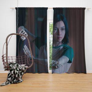 Alita Battle Angel Movie Women Warrior Window Curtain